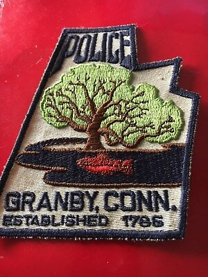 Grandby Connecticut Police patch town shape
