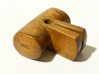 Antique Wood & Co York Hardwood GIGLI Handle Surgery Cutting Limbs Off #R83