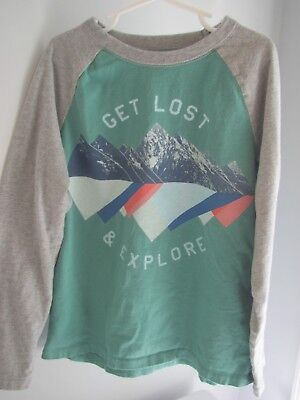 Boys Gap Get Lost + Explore mountain shirt top size 8 BTS Fall