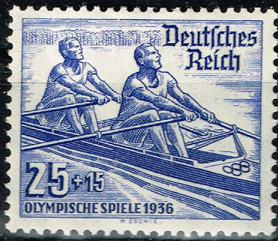 Germany Third Reich Berlin Summer Olympic Games stamp 1936 Sculing MLH