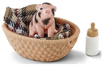 Mini pig with bottle 42294 tough strong Schleich Anywheres  Playground
