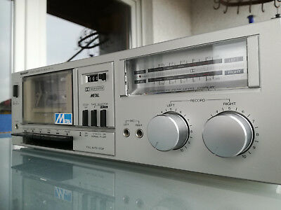 Sharp Stereo Cassette Deck Rt-10  Just Serviced + New Cover Paint In Black !