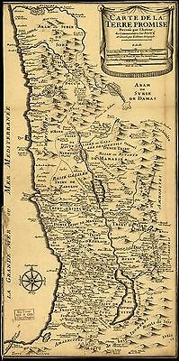 12x18 inch Reprint of Israel Holy Land Map World
