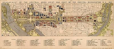 12x18 inch Reprint of American Cities Towns States Map Washington Dc
