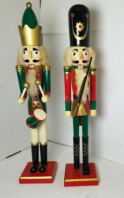 Lot Of Two Vintage Wooden Christmas Nutcrackers