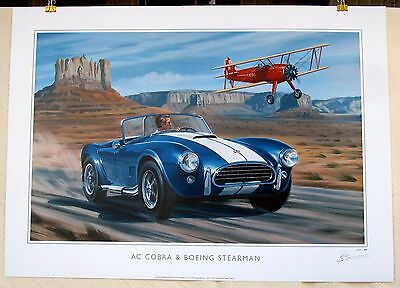 A C Cobra & Boeing-Stearman Model 75 - Tribute to American Dream Ltd Ed Print