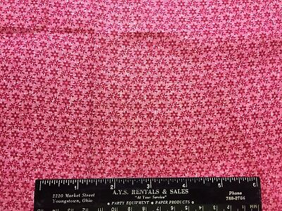 """Antique Cotton Fabric Late 1800s Double Pink Cinnamon 12&1/2"""" by 14""""L"""