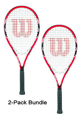 2 Pack Bundle of Wilson Federer Tennis Racquets Rackets Grip 4 3/8 Auth Dealer