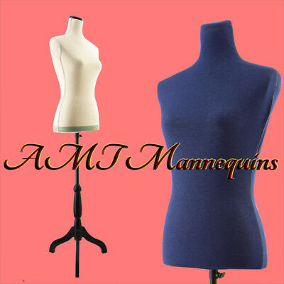 YCV-11PN+, female mannequin toros+ tripod stand+blue jean cover, linen Dressform