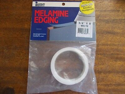 """Band-It Melamine Edging  3/4 """" X 8 ' White NEW in Package"""