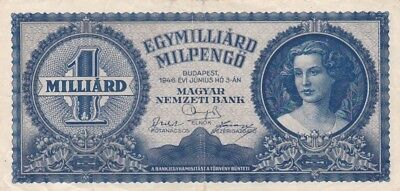 1946 Hungary 1 Milliard Milpengo Note, Pick 131