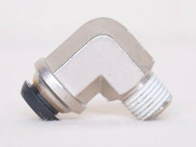 """21 Count Prestolok 10 MM Push To Connect X 3/8"""" Threaded 90 Degree Fitting"""