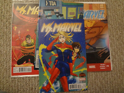 Ms. Marvel Lot Of Four #18 Manga Variant #14 #10 And #12