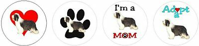 Assortment of 252 Bearded Collie Beardie stickers label