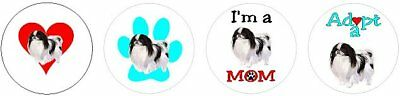 Assortment of 252 Japanese Chin stickers seals labels