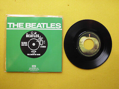 """Single The Beatles """" LET IT BE/ YOU KNOW MY NAME """"(NEU)"""