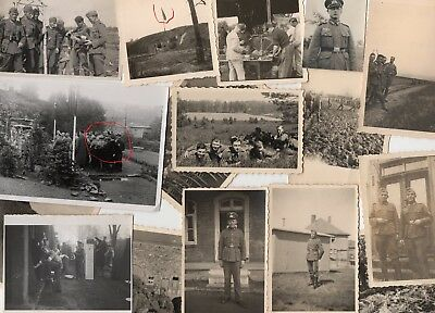 WWII Wehrmacht 15 photos allemandes lot divers 100% Orig WK2  a