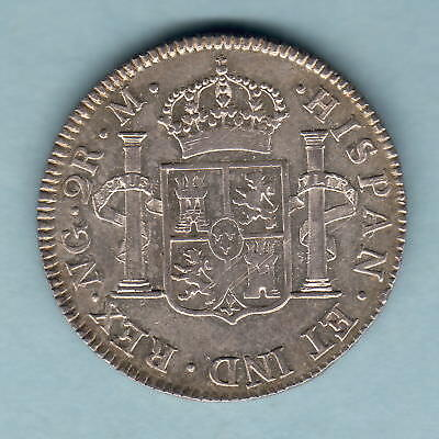 Guatemala. 1801-NG M 2 Reales..  gEF/aUNC - Much Lustre