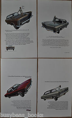 1965 BUICK RIVIERA advertisements x4, Buick Riviera hardtop, fish-eye lens photo