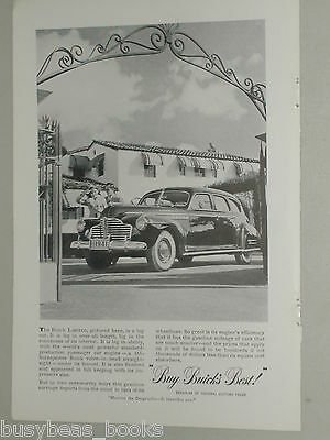 1941 Buick ad, Buick Limited, large sedan