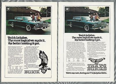 1980 BUICK LeSABRE advertisements x2, Buick Le Sabre coupe ads