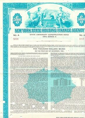 USA 1972 NEW YORK STATE HOUSING FINANCE AGENCY (State University Construction