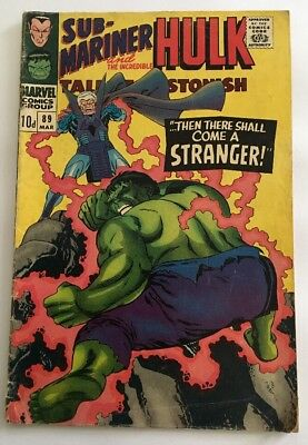 Tales To Astonish #89 Marvel 1967 Sub-Mariner And The Incredible Hulk Comic