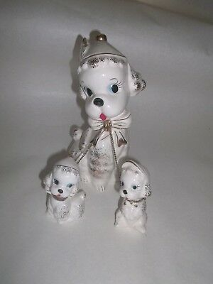 Three Poodle Dogs On A Chain Made in JAPAN