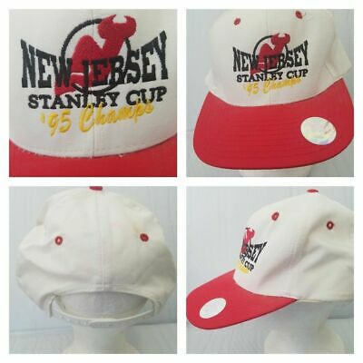 Vintage New Jersey Devils 1995 Stanley Cup Champs Nissin 90s Sport NHL  Hockey D 0748f37c4