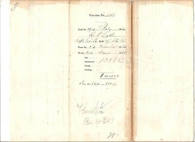 1864 pay voucher Union Army capt. Illinois Volunteer Infantry