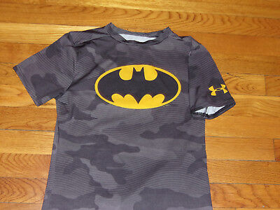 Under Armour Heat Gear Dc Comics Batman Short Sleeve Fitted Jersey Boys Xl Exc.