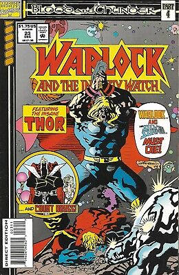 WARLOCK AND THE INFINITY WATCH #23 <>MARVEL COMIC<>BLOOD AND THUNDER<>vf