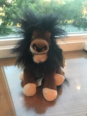 """8"""" Mini Scar Plush Bean Bag Toy With Tags From The Lion King The Disney Store"""