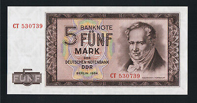Deutschland Germany DDR 5 Mark 1964 Ro. 354 a UNC
