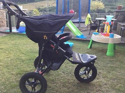 Out n About Nipper Single - Raven Black Pushchair/ Stroller/ Jogger, Immaculate