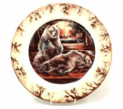 Retro BIG SKY CARVERS Bear Collectors Plate 27.5cm  - G17