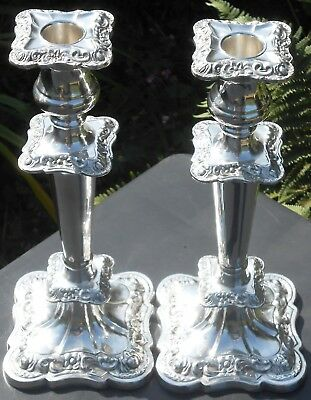 Pair 11 Inch Silver Plated Candlesticks - Vintage - Sheffield
