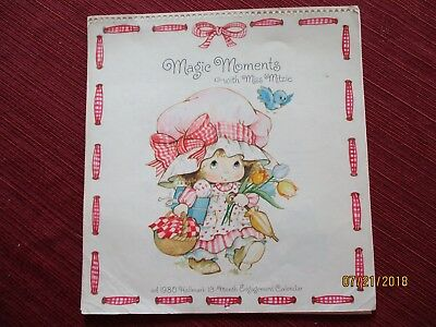 MAGIC MOMENTS WITH MISS MITZIE 1980 Hallmark 13-month Calendar Frameable