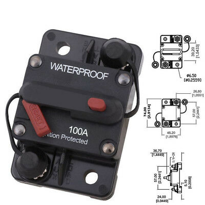 50A/100A AMP High Current Circuit Breaker with Manual Reset Part For Truck Buses