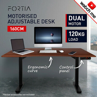 160cm Height-Adjustable Standing Desk Electric Motorised Sit Stand Up OfficeWT
