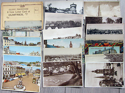 Dumfries Good Lot of 19 Cards + Letter Card, RP etc.