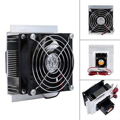 1X 12V 6A 60W Thermoelectric Peltier Refrigeration Cooling System Kit Cooler Fan