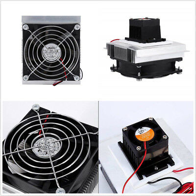 Plastics+Metal 12V Car Thermoelectric Peltier Refrigeration Cooling System Kit