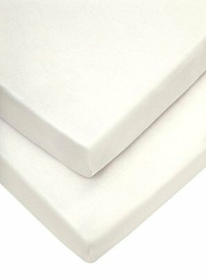Cot/bed Fitted Sheets 70 X 142 Cm, Cream, Pack Of 2 , Nursery Bedding