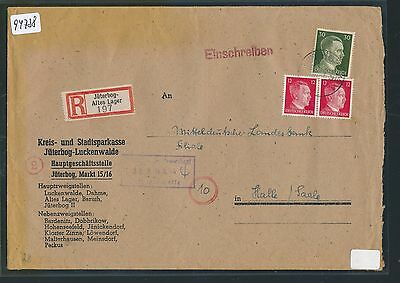 94738) DR Reco-Brief ab Jüterbog - Altes Lager 1944