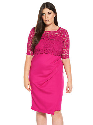 V by Very Curve Double Layer Lace Dress