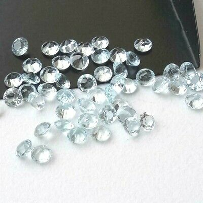 Wholesale Lot 4mm Round Facet Cut Natural Blue Topaz Loose Calibrated Gemstone