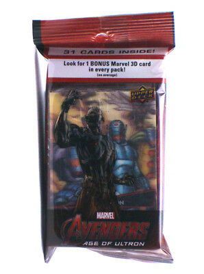 2015 Upper Deck Avengers Age Of Ultron 31-Card Jumbo Pack w/3D Insert Sealed New