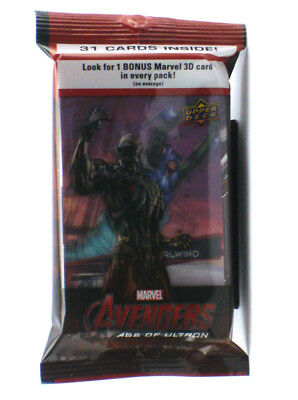 2015 Upper Deck Avengers Age Of Ultron 31-Card Jumbo Pack w/3D Insert Whirlwind