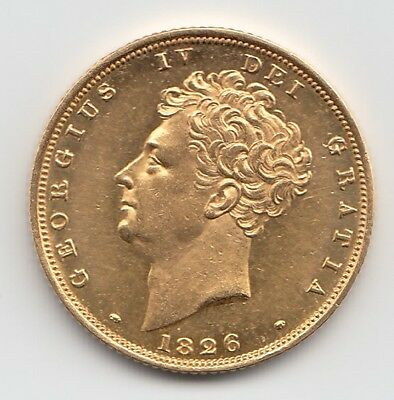1826 George IV Gold Proof Sovereign - Great Britain
